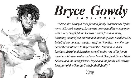 A star high school football player in South Florida who had signed with Georgia Tech was killed Monday after he ...