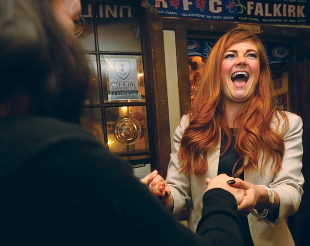 Stephanie A. Lynch celebrates her victory in November's special election in the Richmond City Council 5th District contest.