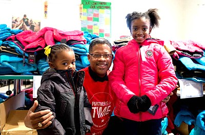 The coat distribution event benefitted Legal Aid, and took place at the Boys & Girls Club of Metropolitan Baltimore. The Club is located at 3560 3rd Street in Brooklyn, MD. According to Macy's, 500 coats were distributed.