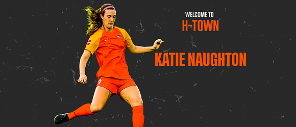 The Houston Dash acquired defender Katie Naughton and the 18th overall selection in the 2020 NWSL College Draft through a ...