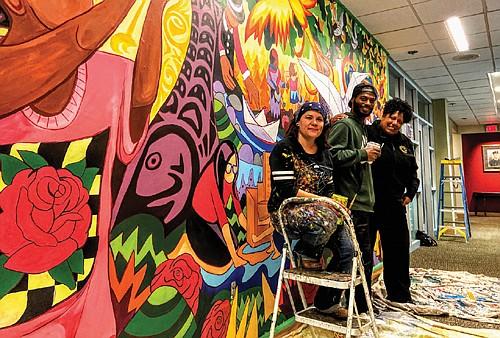 A new piece of public art Portland Fire & Rescue showcases the fire bureau's connection to diverse communities