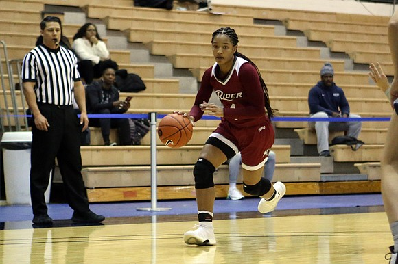 """Guard Stella Johnson has her eye on the prize—a MAAC championship and a trip to the NCAA Tournament. """"Getting that ..."""