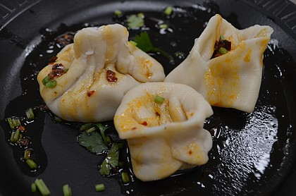 dumplings made at Chinese Community Center