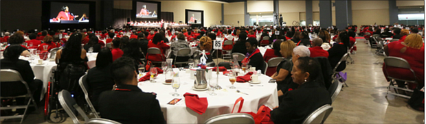 """More than 1,700 sorority members from across Virginia attended the luncheon to hear Dr. Boyd, a former national president of the sorority from 2000 to 2004. Known as the sorority's """"technology presi- dent,"""" she helped launch Project SEE, Science in Everyday Experiences, an initiative funded by a $1.6 million National Science Foundation grant to promote math and science for African-American middle school girls. The event was hosted by the sorority's Chesterfield Alumnae Chapter. The sorority was ounded Jan. 13, 1913, by 22 women at Howard University."""
