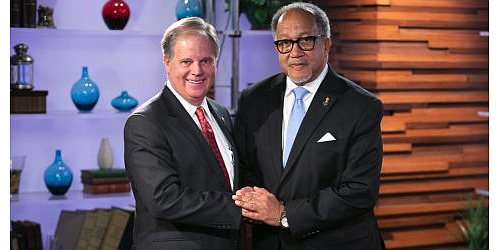 U.S. Sen. Doug Jones and Dr. Benjamin Chavis