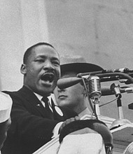 "Martin Luther King Jr. delivers his most famous ""I Have a Dream"" speech during the March on Washington, Aug. 28, 1963."