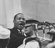 """Martin Luther King Jr. delivers his most famous """"I Have a Dream"""" speech during the March on Washington, Aug. 28, 1963."""