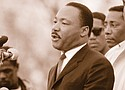 Dr. Rev. Martin Luther King Jr. delivers a speech in Montgomery, Alabama in 1965.