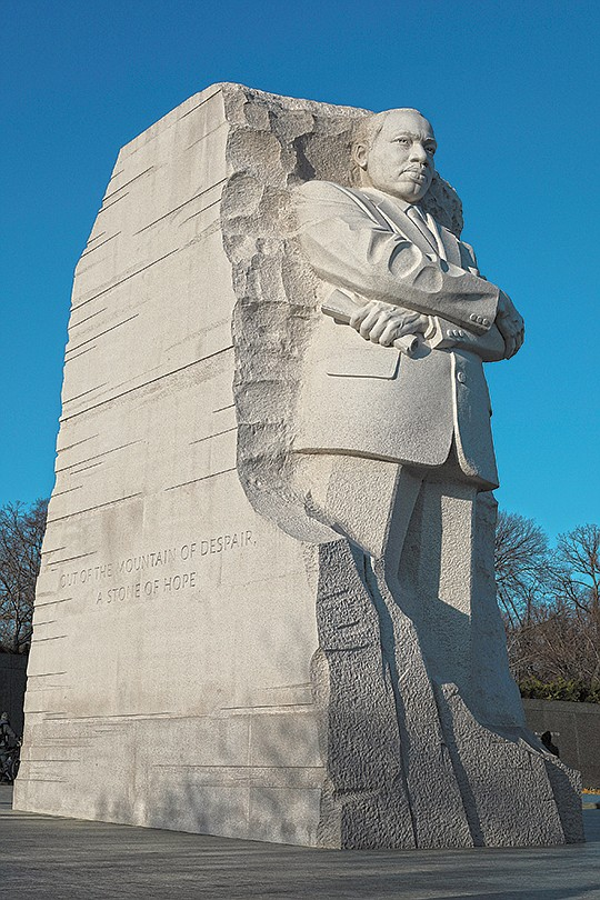 Although Martin Luther King was born and reared in..