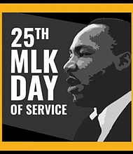 """This Monday, January 20th is the 25th annual Martin Luther King Jr. National Day of Service. Each year, this day encourages people to observe the holiday as """"a day on, not a day off"""" by helping their communities through volunteering in honor of Dr. King's powerful legacy of service and community. Not sure how you can help? Check out the opportunities at https://www.nationalservice.gov/serve-your-community/mlkdaygov/about-mlk-day-service  Source: MLKSay.gov"""