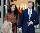 Britain's Prince Harry and Meghan Markle, the Duchess of Sussex, leave the Canada House in London on Jan. 7 after their recent stay in Canada.