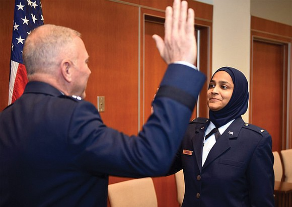 The U.S. Air Force commissioned its first Muslim woman chaplain candidate last month, marking the first time the U.S. military ...