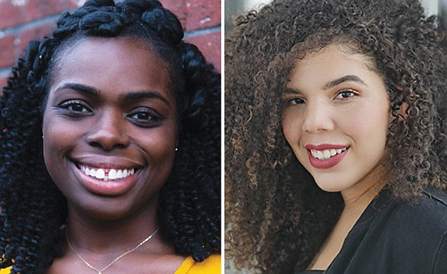 Andrea Vernae (left) stars as Paulina, the queen bee and mean girl, and Morgan Walker as Ericka, the newcomer who threatens her reign, in 'School Girls' or 'The African Mean Girls,' by award winning Ghanaian-American playwright Jocelyn Bioh.