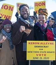 Keron Alleyne and his family