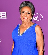 Cathy Hughes on the red carpet at the 40th Anniversary celebrations of Urban One, Inc