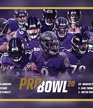 Twelve players from the Baltimore Ravens were selected to play in the 2020 Pro Bowl and John Harbaugh and the Ravens staff are the team coaches.