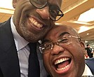 Christopher Roker with big brother Al Roker