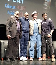 Michael Diwiddle, Kenny Leon, David Alan Grier and Blair Underwood at 'Theater Talks: A Soldier's Play' at The Schomburg