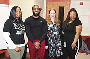 (L to R) BHS S.T.A.R.S. leader Selina Jones, WCHD Public Health Educators David Campbell and Katherine Schram, and S.T.A.R.S student officer Manyah Chatman.