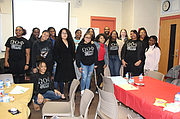 Members of the Bolingbrook High School S.T.A.R.S group pose after hearing lessons from WCHD Public Health Educators David Campbell and Katherine Schram (both are in back row with S.T.A.R.S leader Selina Jones).