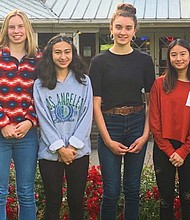 High school students from Portland served this past summer as golf caddies for hourly wages and school credit as part of a Portland Parks and Recreation scholarship program. Pictured (from left) are Amy Mendez, Lilly Varner, Valeria Corales Badilla, Ava Arias, Michelle Nguyen and Angelina Granados. Not pictured, Tommy Nguyen and Lisa Chen.