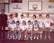 Kobe Bryant's 'Cantine Riunite' youth team in the early 1990's in Reggio Emilia, Italy. Bryant is in the top row, third from the left.