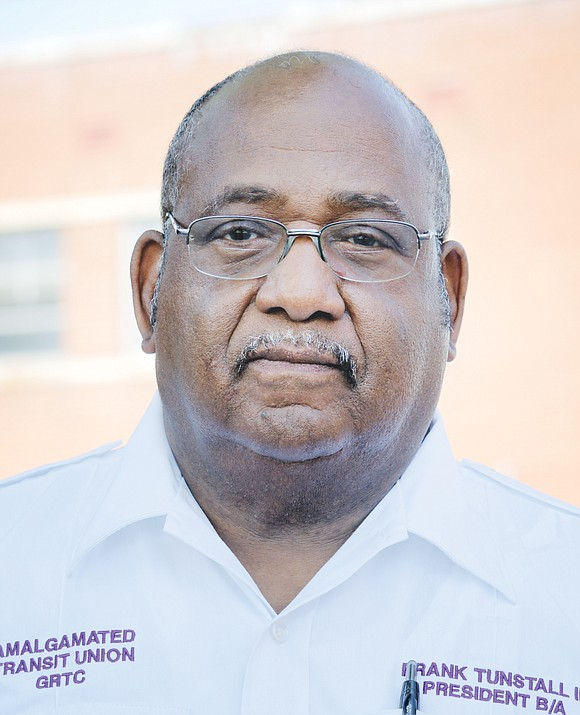 Frank Tunstall III, the veteran president and business agent for GRTC's unionized bus drivers, has died.
