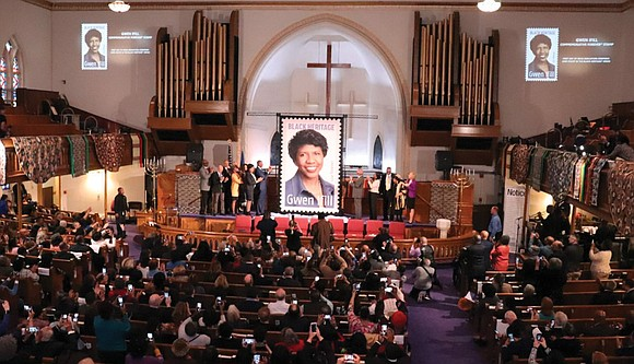 In the historic African-American church where she worshipped, late journalist Gwen Ifill was remembered with a new Black Heritage postage ...