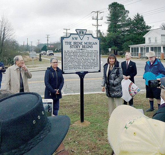 More than 100 people were present last Saturday for the dedication of a state historical marker in Gloucester County's Hayes ...