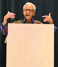 Poet Nikki Giovanni (pictured) was the featured speaker at the 37th Annual Dr. George E. Kent Lecture at the University of Chicago. Photo Credit: Tia Carol Jones