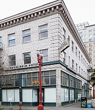 The historic Royal Palm Hotel, located at 310 N.W. Flanders, was one of Portland's first facilities to hire African-American employees and accept African-American guests. Advocates for preserving Portland's black history have added the structure to a list of buildings the Architectural Heritage Museum is compiling to protect from demolition.