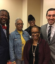 (L to r) Dr. Michael Sinclair; Dr. Linda Darrell; Dr. Kevin Daniels; Councilman Zeke Cohen; and (front) Dr. Anna McPhatter.