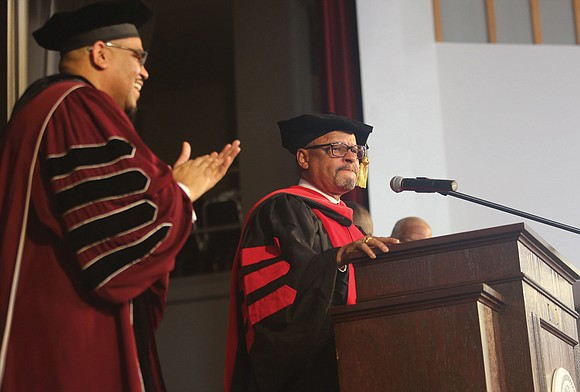 Virginia Union University President Hakim J. Lucas stood before an audience of more than 350 students, faculty, alumni, trustees and ...