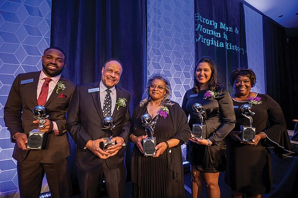 Five African-American leaders, including a retired judge, NASA scientist and inventor and a former NFL player, were honored during the ...