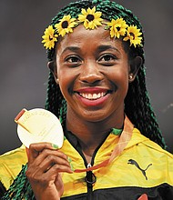 Shelly-Ann Fraser-Pryce is aiming to become the first woman to win three Olympic gold medals in the 100 meters.