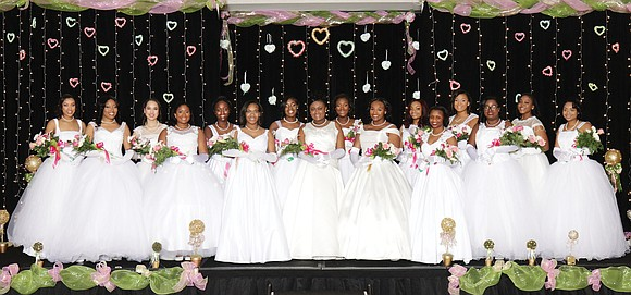 Sixteen young women were presented at the Debutante Presentation and Ball hosted by Alpha Kappa Alpha Sorority's Upsilon Omega Chapter.