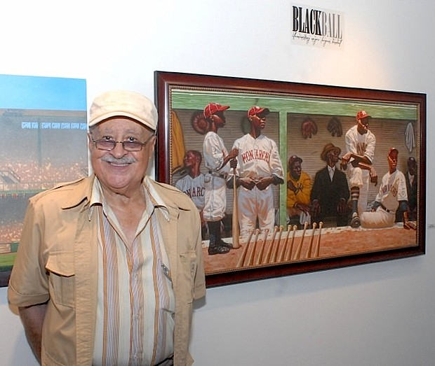 Jim Robinson of the Kansas City Monarchs of the Negro Leagues
