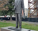 Harry F. Byrd Sr., the late Virginia governor, U.S. senator and the architect of the state's Massive Resistance to racial desegregation of public schools, is remembered with a statue on the grounds of the State Capitol.