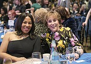 Sheila Bynum-Coleman of Chesterfield County joins Valerie Biden Owens, sister of former Vice President Joe Biden, at the Blue Commonwealth Gala where Ms. Owens stumped for her brother.