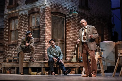 "Joe Marshall, J. Ron Fleming Jr., James Craven are actors in the stage production of ""Fences."""