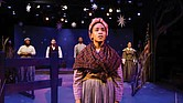 "Marjie Southerland, front, plays Harriet Tubman in ""Harriet Tubman and the Underground Railroad."""