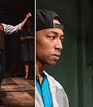 """Michael Mendelson, left, in the heart-opening play """"Indecent"""" and La'Tevin Alexander and Reggie Lee Wilson illuminate aspects of the school-to-prison pipeline in """"Pipeline."""""""