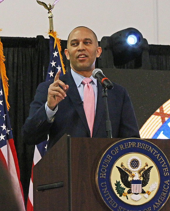 Cong. Hakim Jeffries hosted his State of the District at the Long Island College, Brooklyn Campus on Monday, 24 February, ...
