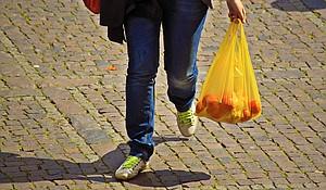 Plastic shopping bags
