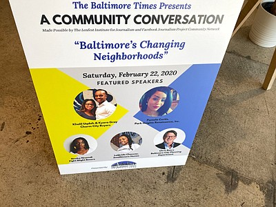 The Baltimore Times opened its three-part community conversations series
