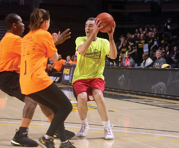 The governor, lobbyists, legislators and their assistants left Capitol Square last Thursday to face off on the basketball court for ...