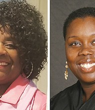 Sharon Gary-Smith, left, and Adrienne Nelson