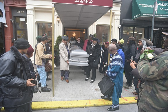 """The community paid their respects to nationalist revolutionary activist Rosevelt """"Zulu"""" Bynum, who passed away at the age of 85,"""