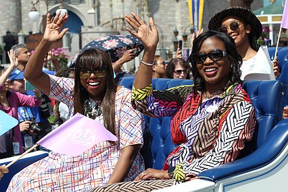 Mikki Taylor and Tracey Powell at the Disney Dreamers Academy Parade at the Magic Kingdom