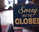 Closed sign/small business